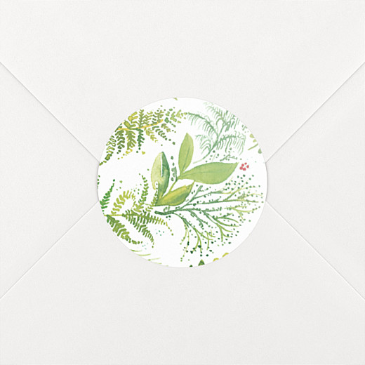 Stickers pour enveloppes mariage Murmure vert - Vue 2