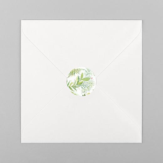Stickers pour enveloppes mariage Murmure vert - Vue 1