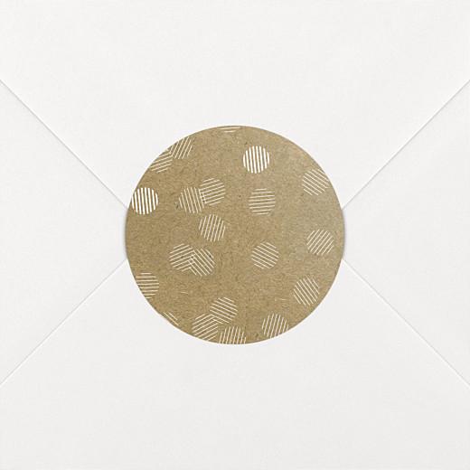 Stickers pour enveloppes mariage Polka kraft - Vue 2