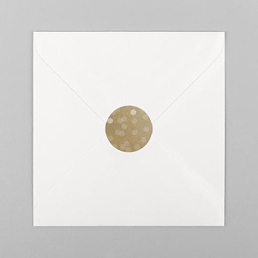 Stickers pour enveloppes mariage Polka kraft - Vue 1