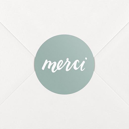 Stickers mariage Merci vert - Vue 2