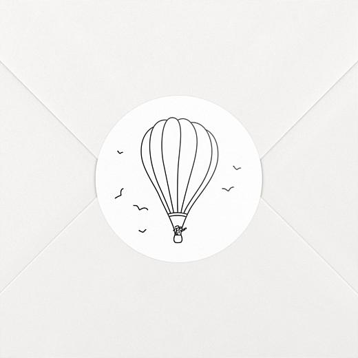 Stickers pour enveloppes mariage Promesse champêtre montgolfière - Vue 2