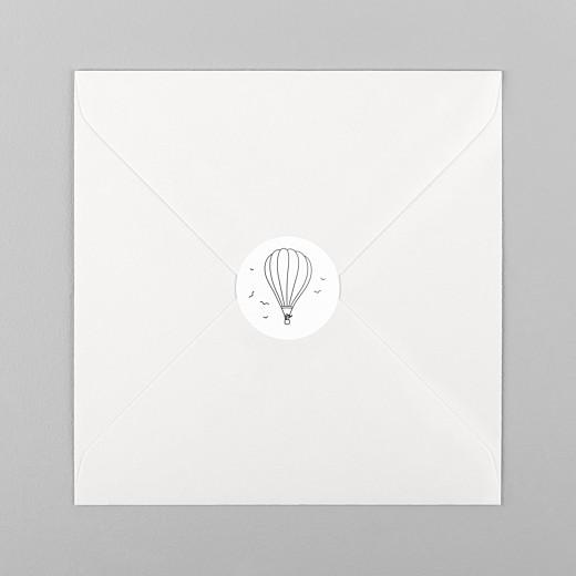 Stickers pour enveloppes mariage Promesse champêtre montgolfière - Vue 1