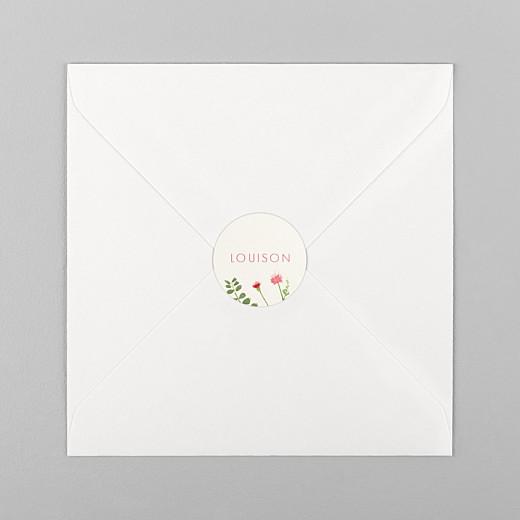 Stickers Naissance Fleurs aquarelle crème - Vue 1