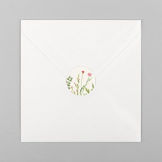 Stickers pour enveloppes naissance Fleurs aquarelle crème - Vue 1