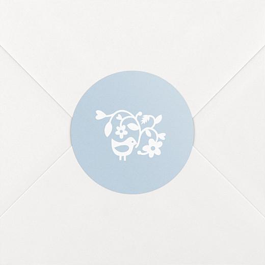 Stickers pour enveloppes naissance Comptine bleu - Vue 2