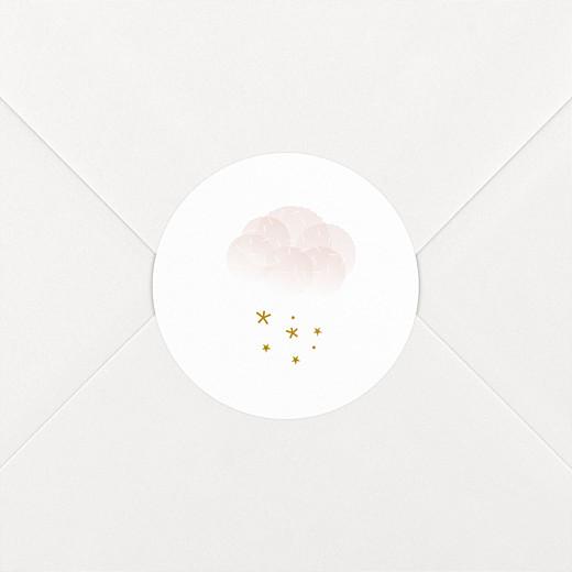 Stickers pour enveloppes naissance Brume rose - Vue 2