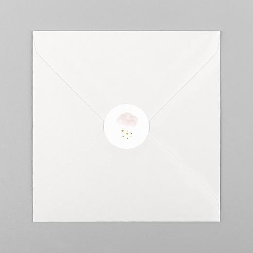Stickers pour enveloppes naissance Brume rose - Vue 1