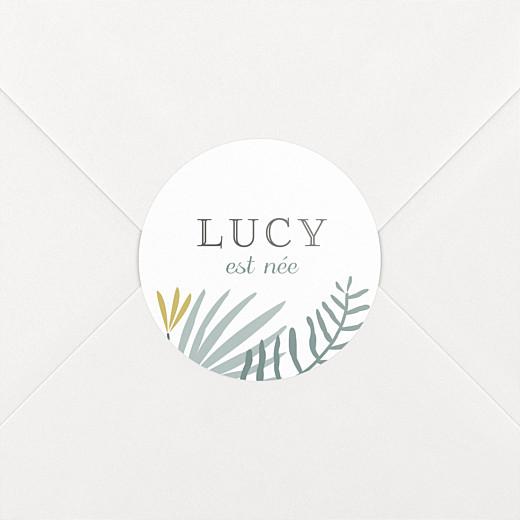 Stickers pour enveloppes naissance Jardin tropical vert - Vue 2