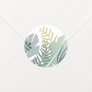 Stickers pour enveloppes naissance Jardin tropical vert
