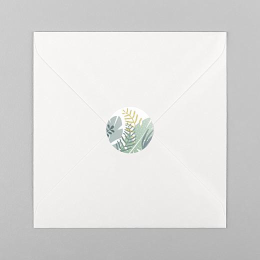 Stickers pour enveloppes naissance Jardin tropical vert - Vue 1
