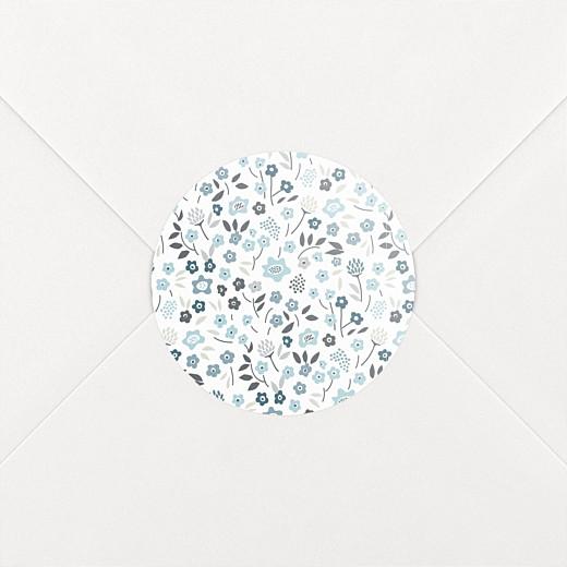 Stickers pour enveloppes naissance Liberty origami étoile bleu - Vue 2