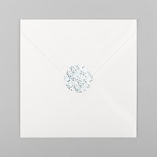 Stickers pour enveloppes naissance Liberty origami étoile bleu - Vue 1