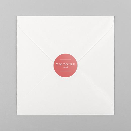 Stickers pour enveloppes naissance Médaillon corail - Vue 1