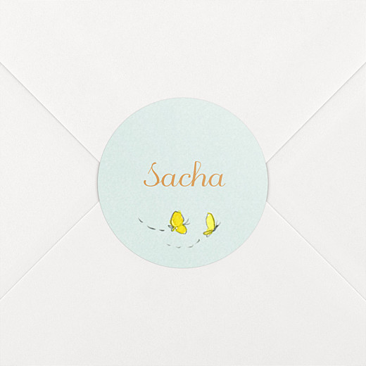 Stickers pour enveloppes naissance Nous irons au bois vert - Vue 2