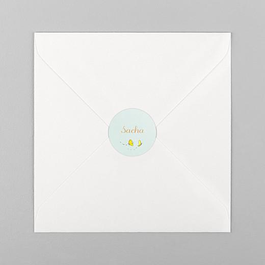 Stickers pour enveloppes naissance Nous irons au bois vert - Vue 1