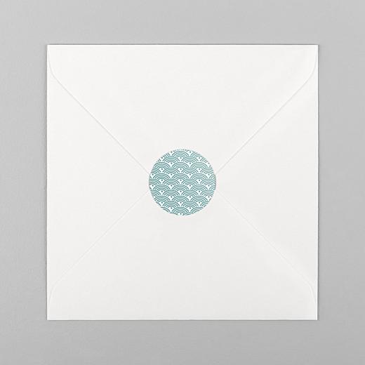 Stickers Naissance Pattern vert - Vue 1