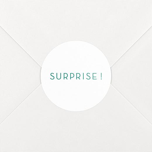 Stickers pour enveloppes naissance Simplement vert - Vue 2
