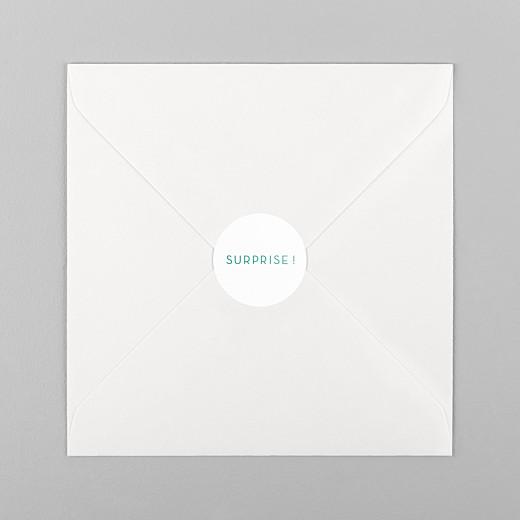 Stickers pour enveloppes naissance Simplement vert - Vue 1