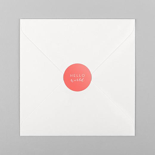 Stickers Naissance Son prénom corail - Vue 1