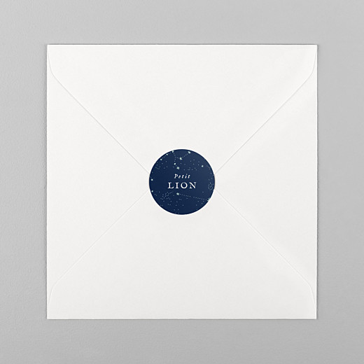 Stickers Naissance Univers bleu nuit - Vue 1