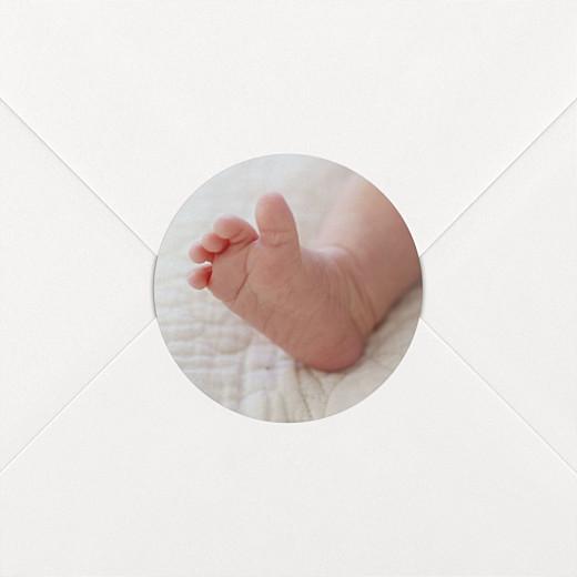 Stickers pour enveloppes naissance Photo blanc - Vue 2