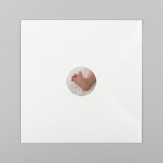 Stickers pour enveloppes naissance Photo blanc - Vue 1