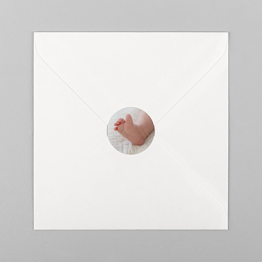 Stickers Naissance Photo blanc - Vue 1