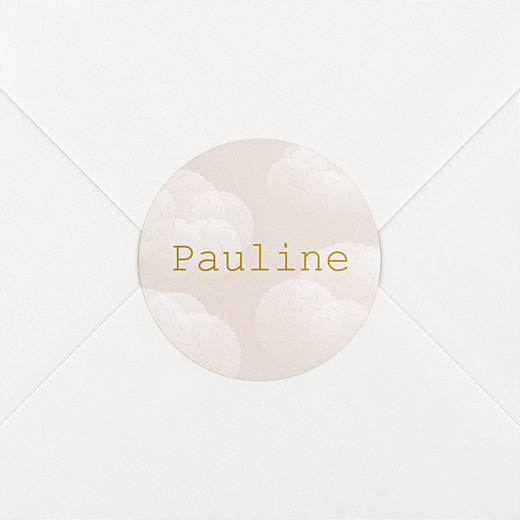 Stickers Naissance Brume rose - Vue 2