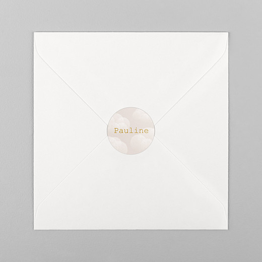 Stickers Naissance Brume rose - Vue 1