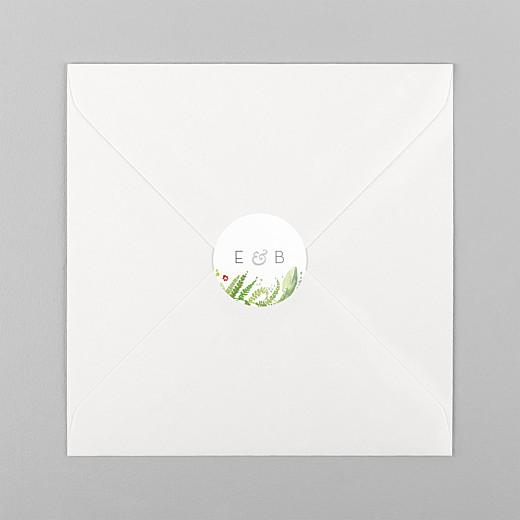 Stickers pour enveloppes mariage Murmure de forêt vert - Vue 1