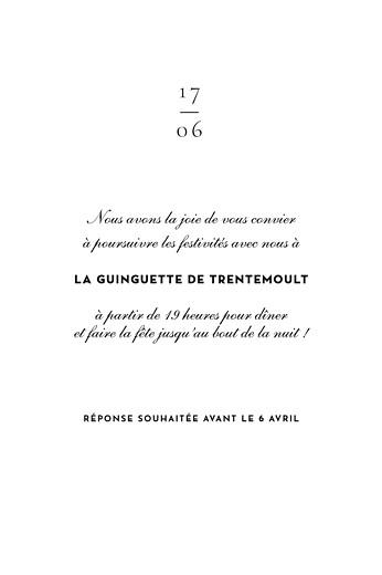 Carton d'invitation mariage Esquisse fleurie portrait blanc - Page 2