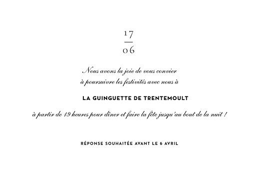 Carton d'invitation mariage Esquisse fleurie blanc - Page 2