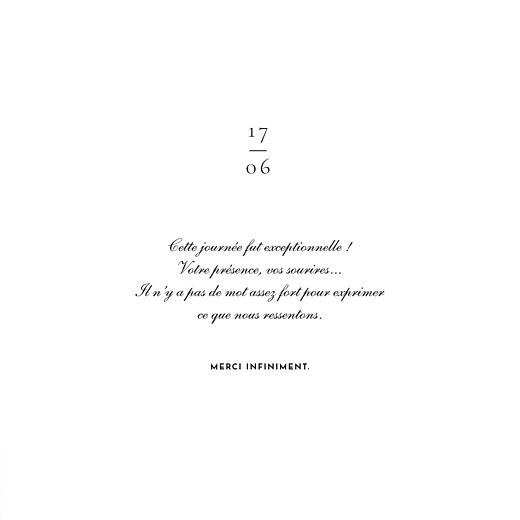 Carte de remerciement mariage Esquisse fleurie blanc - Page 3
