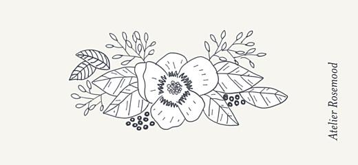 Etiquette de mariage Esquisse fleurie blanc - Page 2
