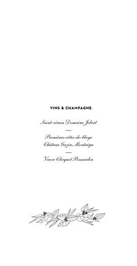 Menu de mariage Esquisse fleurie blanc - Page 2