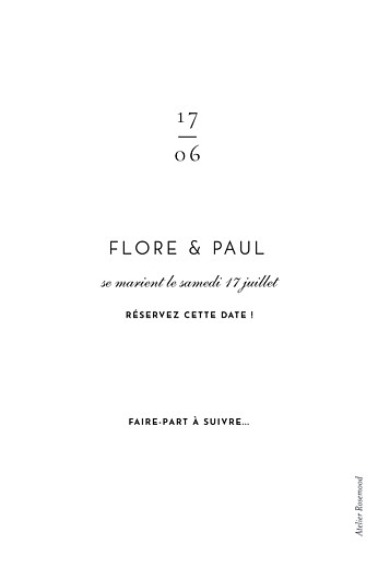 Save the Date Esquisse fleurie blanc - Page 2