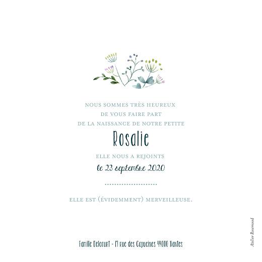 Faire-part de naissance Bouquet sauvage bleu - Page 2