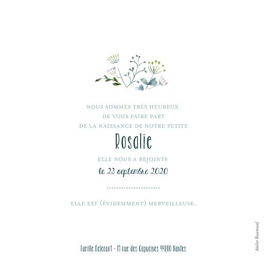 Faire-part de naissance Bouquet sauvage violet - Page 2