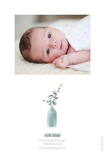 Faire-part de naissance Bouquet sauvage (portrait) blue - Page 2