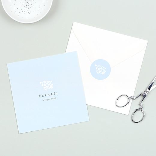 Stickers pour enveloppes naissance Comptine bleu - Gamme