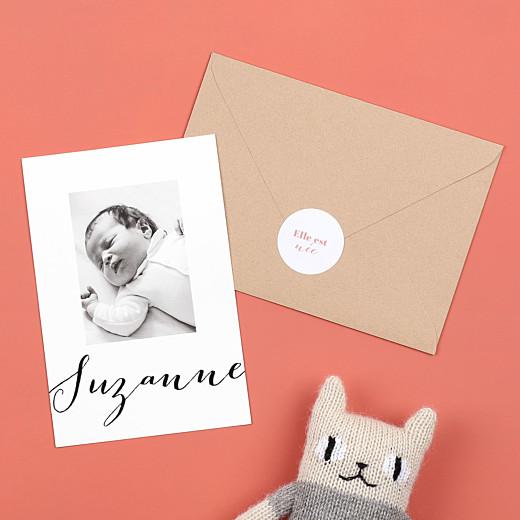 Stickers pour enveloppes naissance Classique blanc - Gamme