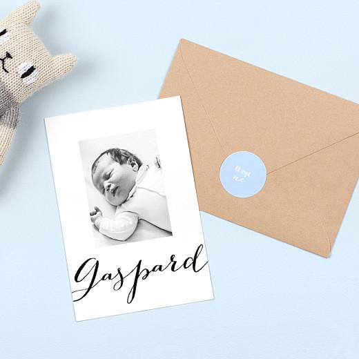 Stickers pour enveloppes naissance Classique bleu ciel - Gamme