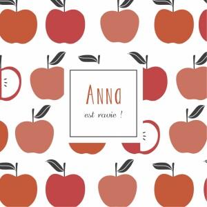 Carte de remerciement Merci petits fruits pomme