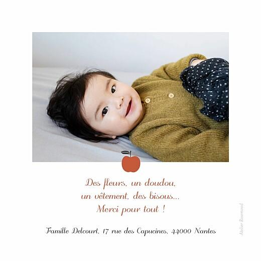 Carte de remerciement Merci petits fruits pomme - Page 2