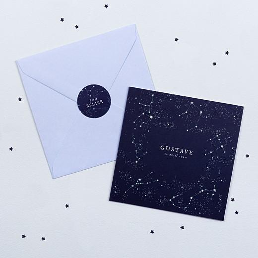Stickers Naissance Univers bleu nuit - Gamme