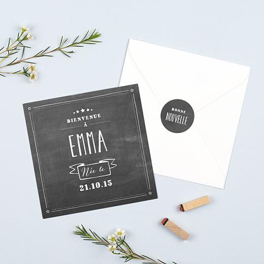 Stickers pour enveloppes naissance Ardoise noir - Gamme