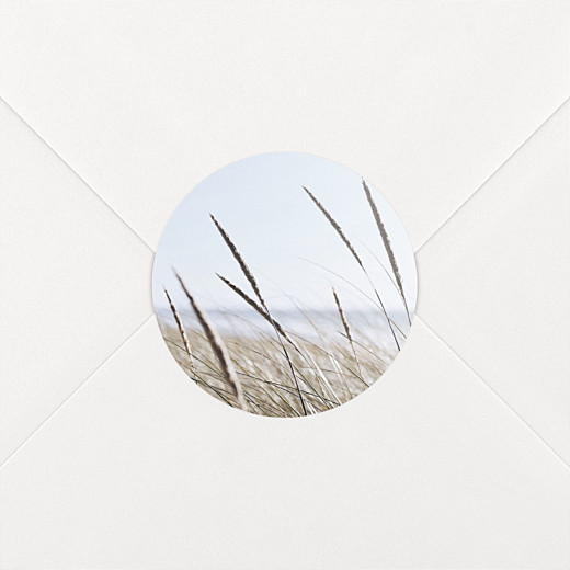 Stickers pour enveloppes mariage Photo blanc - Vue 2