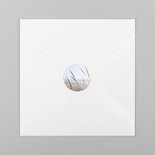 Stickers pour enveloppes mariage Photo blanc - Vue 1