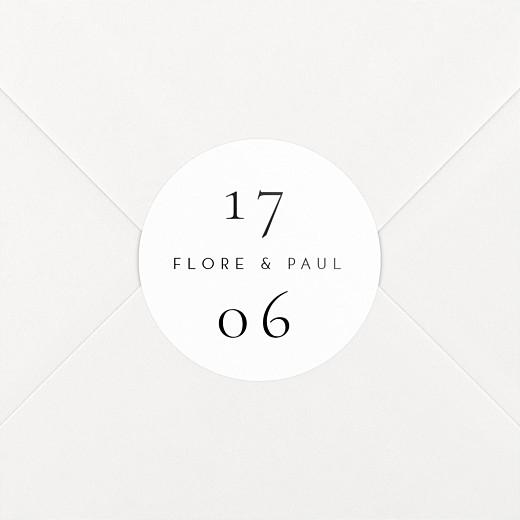 Stickers pour enveloppes mariage Esquisse fleurie blanc - Vue 2